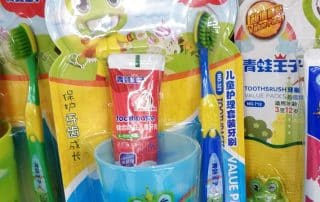 Colorful on pack promotion with plastic glass