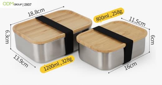Custom Bamboo Lunch Box Sets
