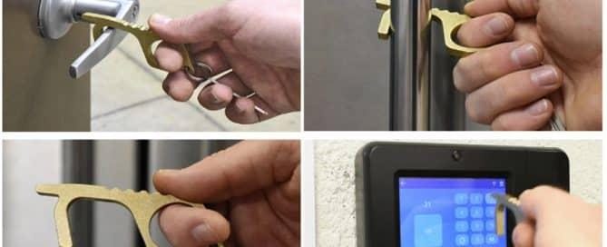 Custom Brass Door Opener Keychain