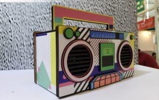 custom cardboard speaker