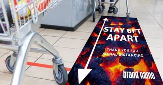 Floor Advertising Sticker