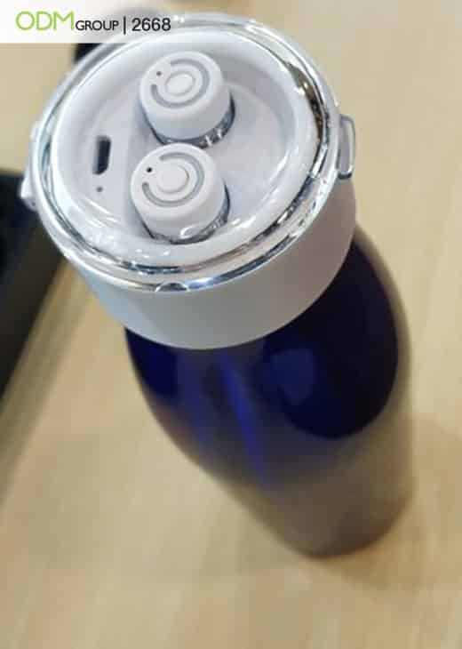 Custom Bottle With Earbuds