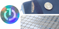 Branded Digital Frame - Custom Holographic Stickers