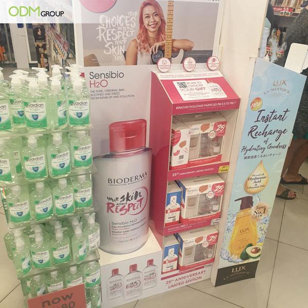 Cosmetics Floor Display