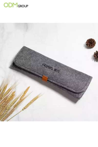 Keep Your Beauty Tools Hot with Customers - Branded Felt Pouch