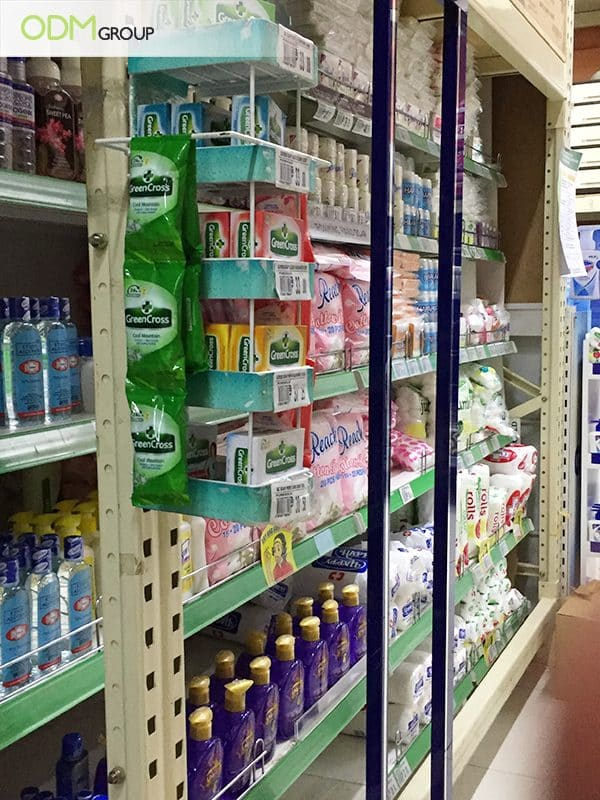 On-Shelf Merchandising Display