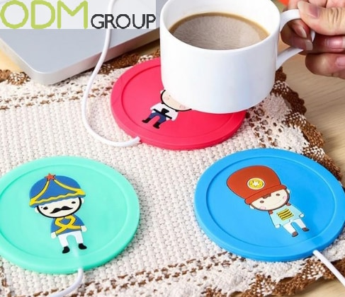 Coffee Promotional Item-Creative Promo Idea Silicone USB Cup Warmer