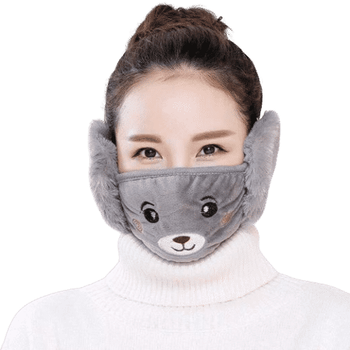Plush Face Mask with Ear Muff