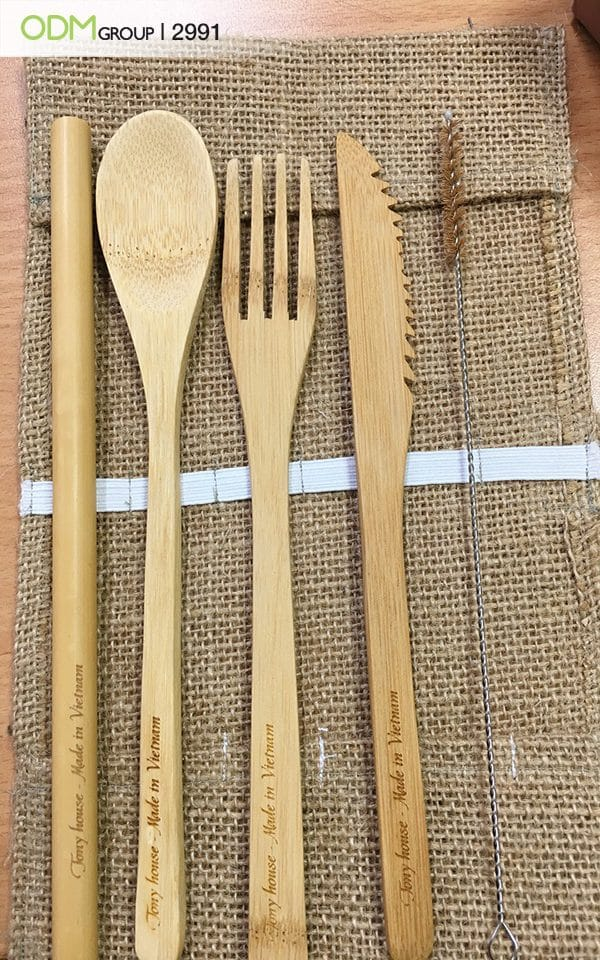 Sustainable Promotional Products - Bamboo Cutlery Set