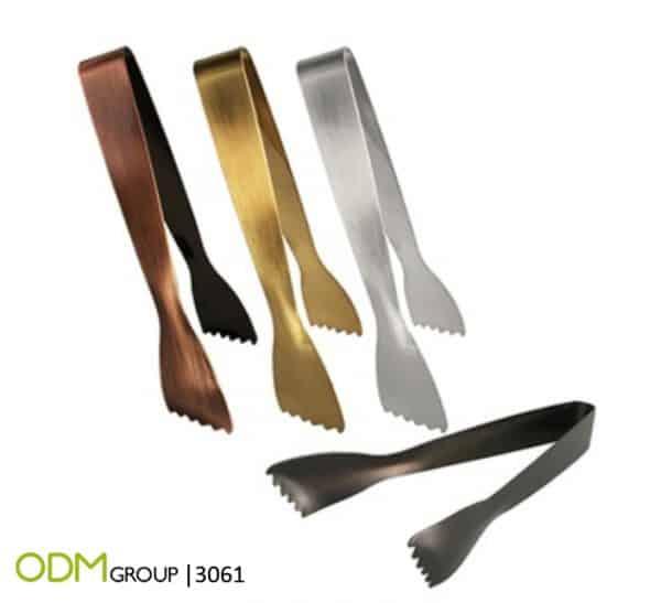 Custom Barware - Stainless Ice Steel Tongs