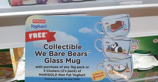 We Bare Bears Glass Mug
