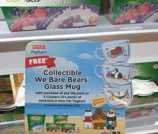 We Bare Bears Glass Mug