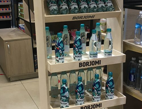 Boost your Drinks Marketing with a Wooden Product Display – Borjomi