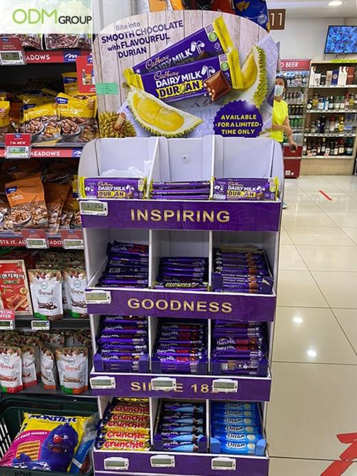 cadbury grocery store display idea