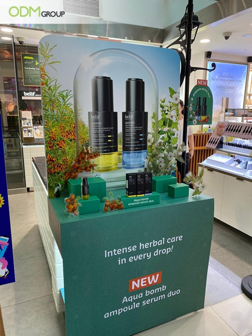 Skincare Display: Captivating Marketing by The Face Shop