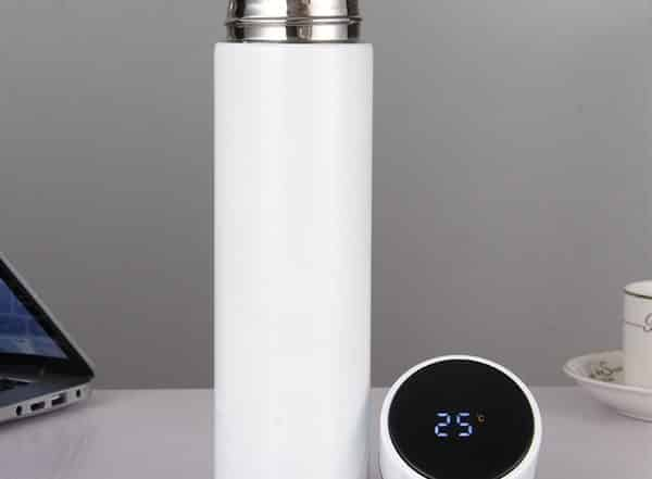 fmcg marketing water bottle with temperature display