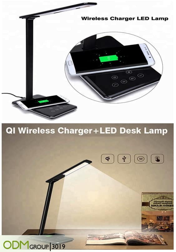 End of Year Employee Gifts - LED LAmp with Wireless Charger