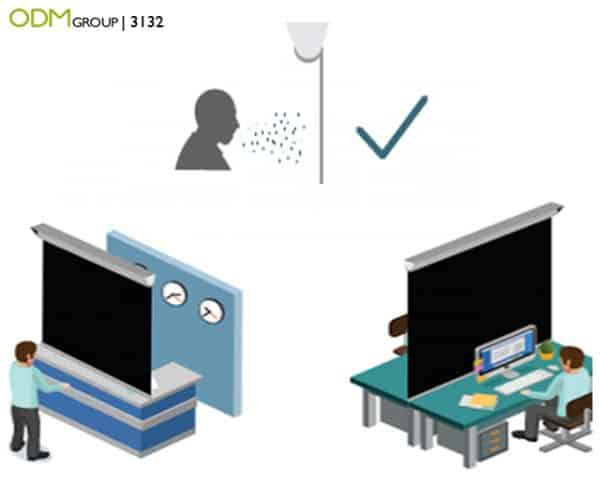 Shop Counter Protection Screen