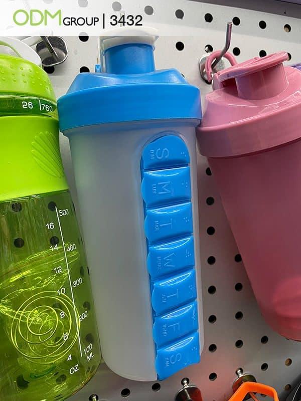 Custom Pill Box Water Bottle