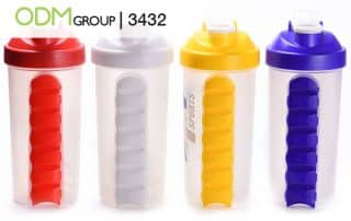 Custom Pill Box Water Bottle