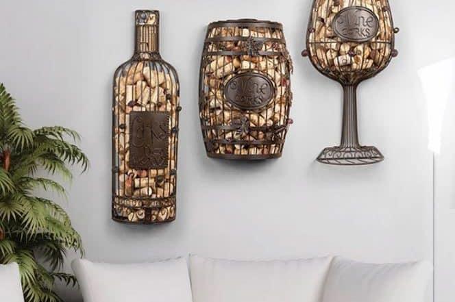 Custom wine cork holder