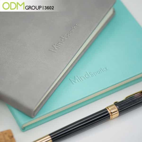 Branded Leather Notebook