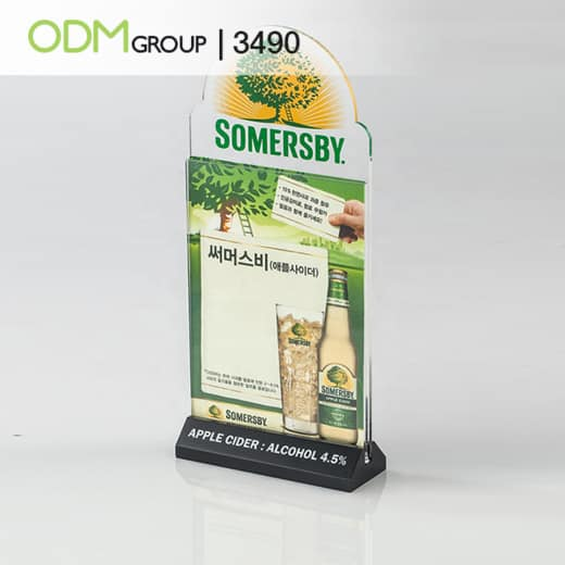 Acrylic Table Talkers with Logo