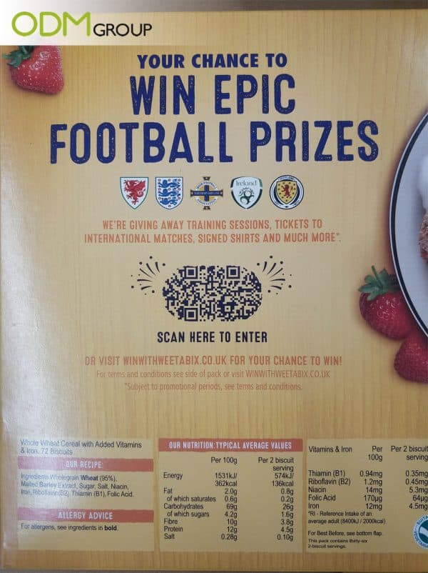 Cereal Box Promotions